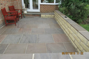 Patio and walling