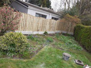 Fence erected